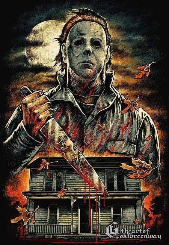 horror movie art john carpenter s halloween 1978 michael myers