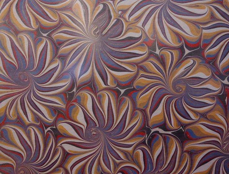 Marbled paper by Peggy DeAngeles.
