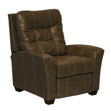 Catnapper cooper leather push back recliner molasses for Catnapper maverick chaise swivel glider recliner
