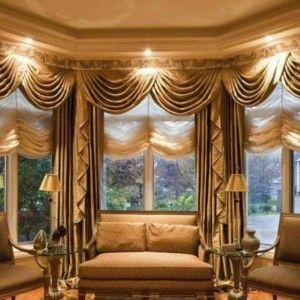 elegant swag drapes window treatments for bay windows ideal window treatments for bay windows