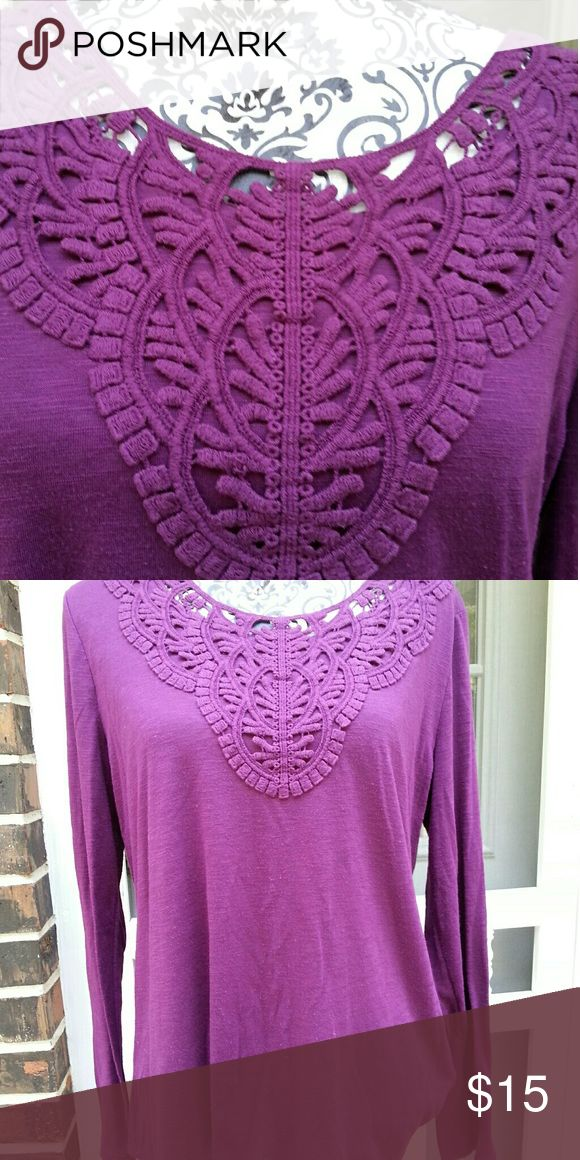 Purple long sleeves tops Purple long sleeves tops Faded Glory Tops Tank Tops