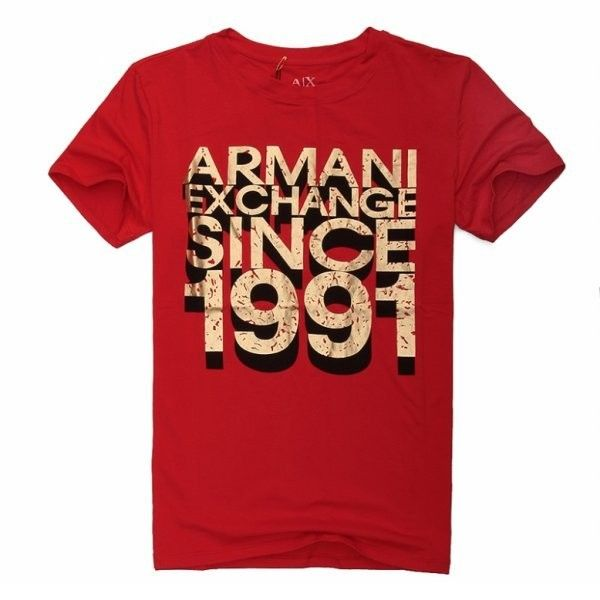 cheap ralph lauren online Armani Exchange Since 1991 Short Sleeve Men's T-Shirt Red http://www.poloshirtoutlet.us/