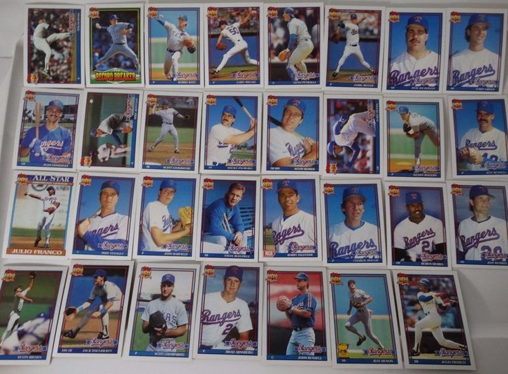 1991 Topps Texas Rangers Team Set of 31 Baseball Cards #topps #TexasRangers