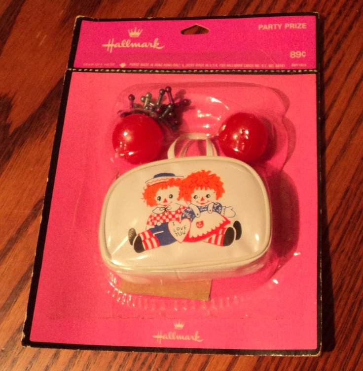 Hallmark 1970 39 S Raggedy Ann Andy Party Favor Purse With
