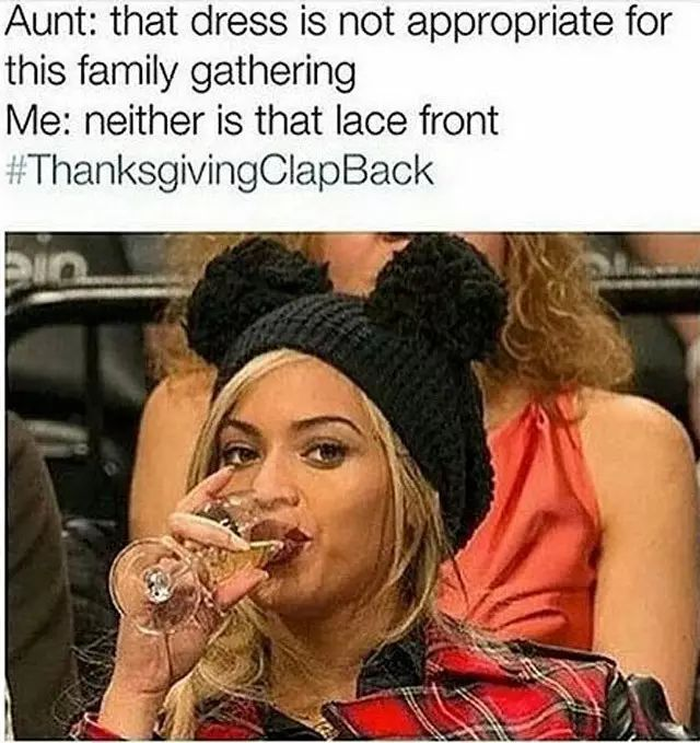 #Thanksgiving Clapback