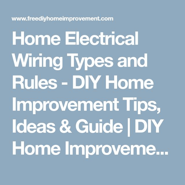 Best 25 Home electrical wiring ideas – Diy Home Wiring Guide
