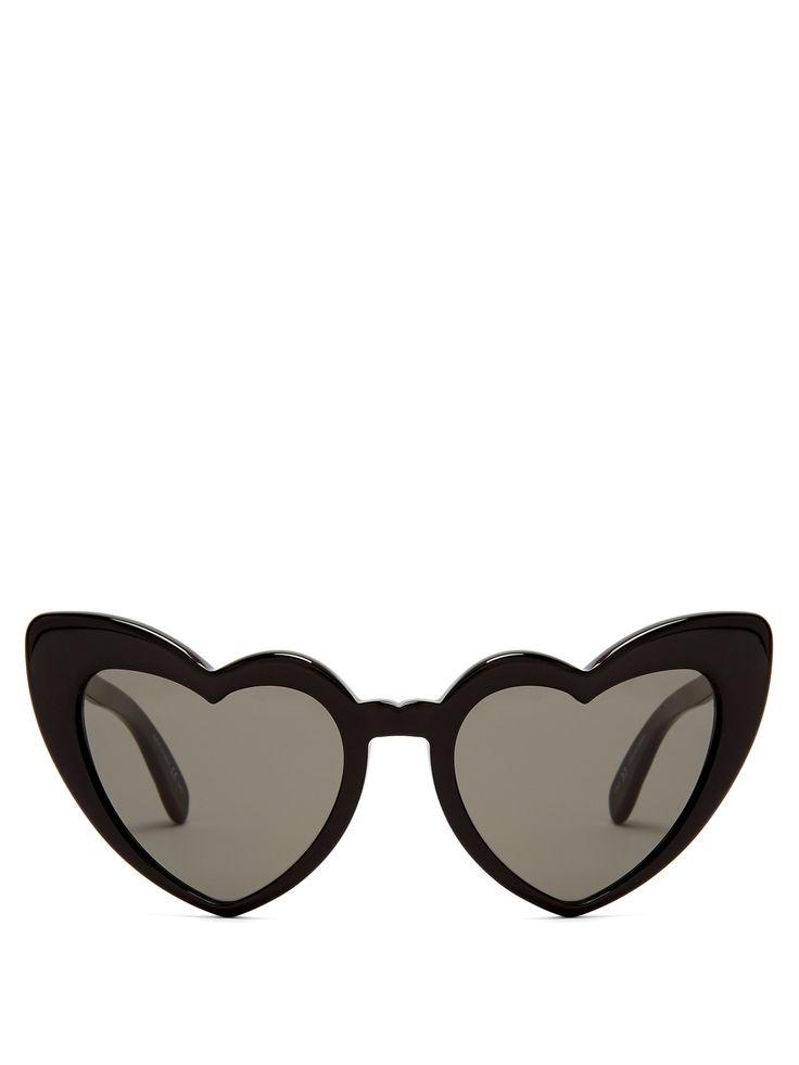 Saint Laurent Loulou heart-frame acetate sunglasses