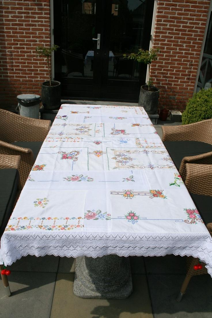 Tafelkleed van div. tafelkleden