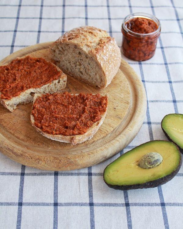 Avocado and Sun-Dried Tomato Pesto Tartine   by @bgsk   #sandwich # ...