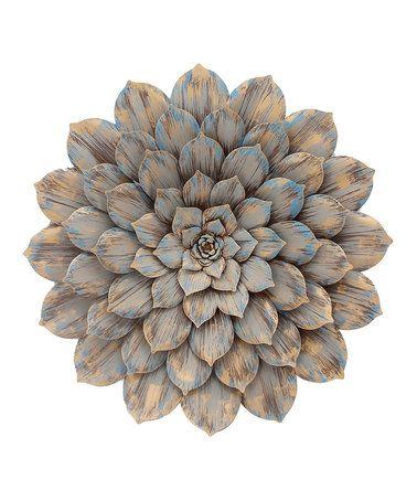 Gray Metal Flower Wall Art #zulily #zulilyfinds