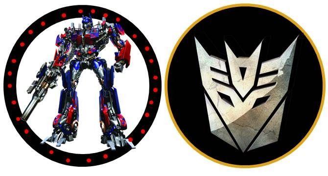 Kit Para Fiestas De Transformers Para Imprimir Gratis