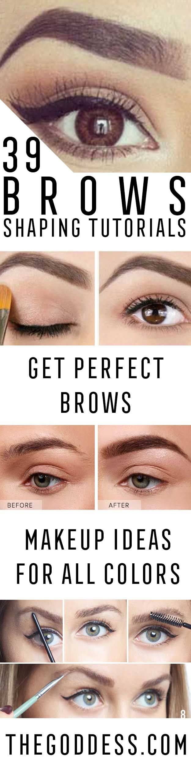 Brow Shaping Tutorials - Awesome Makeup Tips for How To Get Beautiful Arches, Amazing Eye Looks and Perfect Eyebrows - Make Up Products and Beauty Tricks for All Different Hair Colors along with Guides for Different Eyeshadows  - thegoddess.com/brow-shaping-tutorials