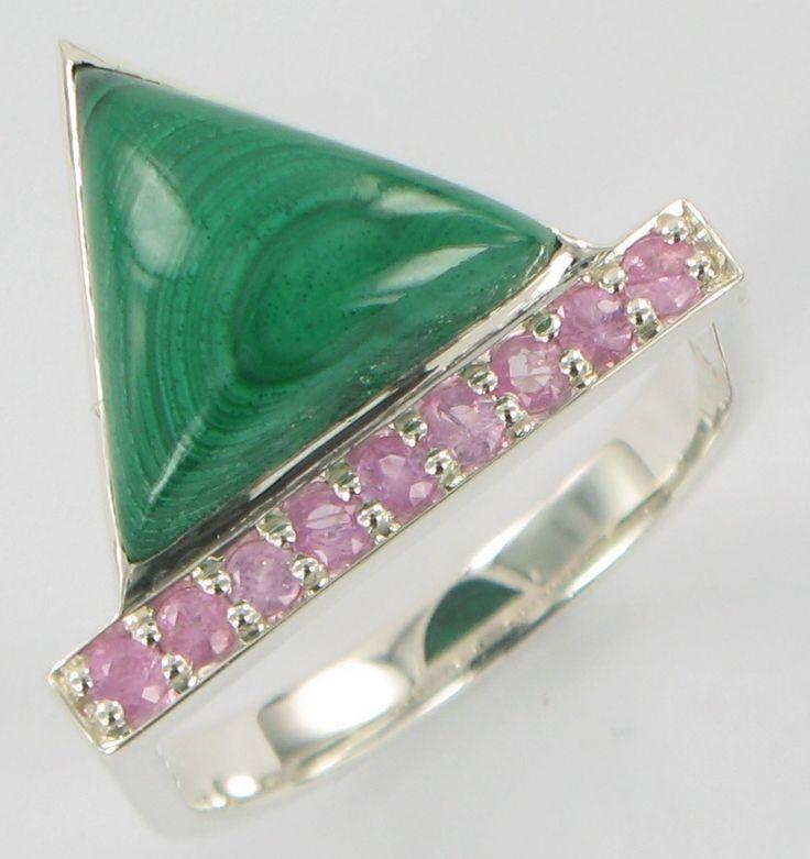 """Walk in the Woods"" Malachite pink sapphire"