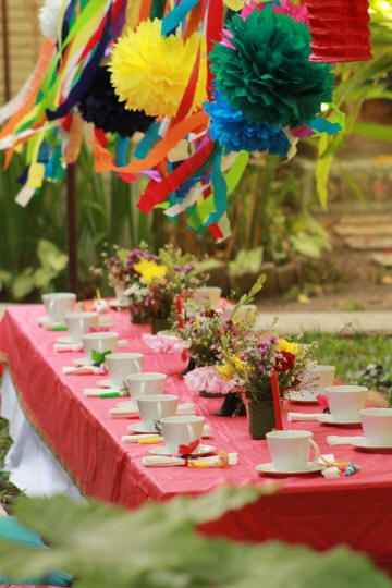 Bali Kids Party - Tea Party table decoration