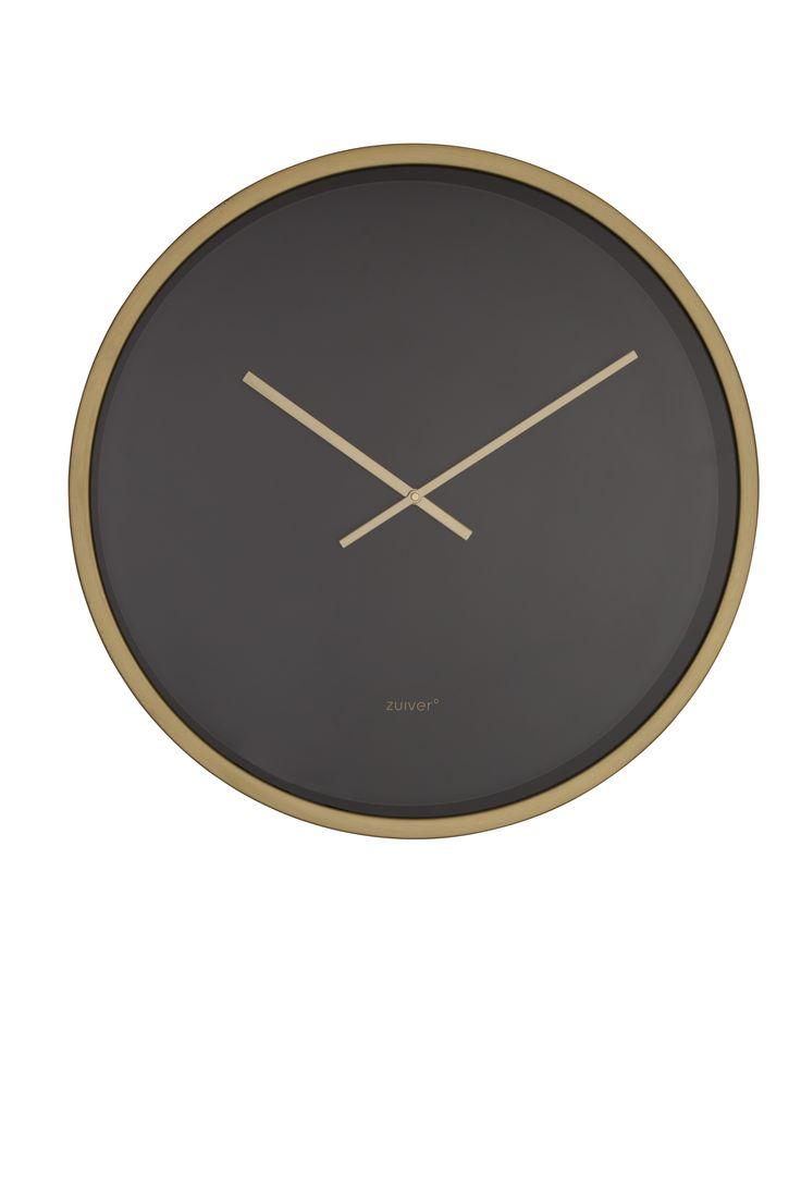 Bandit clock time - Black/Brass #Clock#Orloge#Uhr#klok