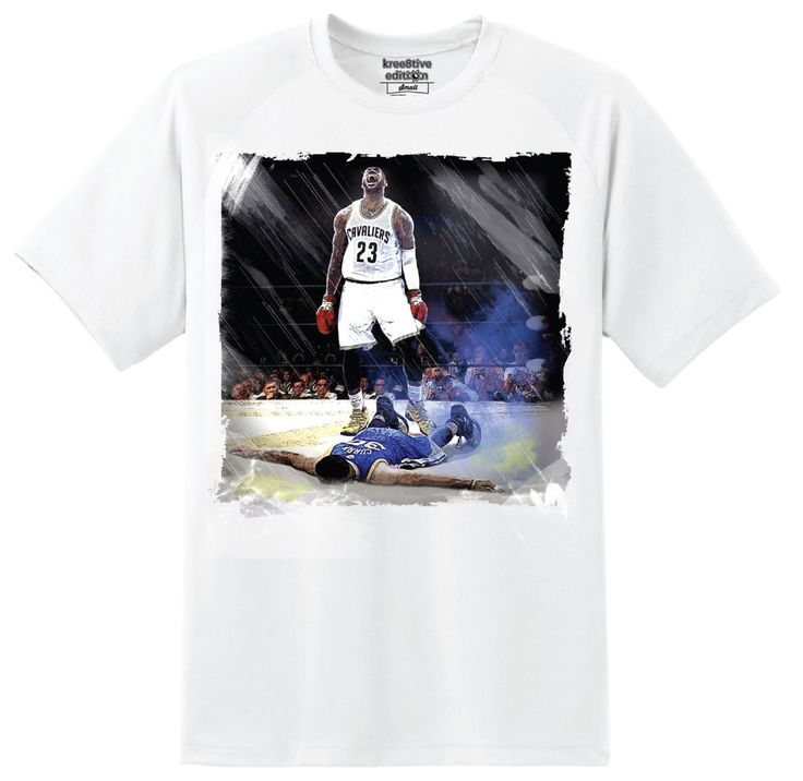 """Kree8tions """"Kings Conquer"""" T-shirt Lebron James Cleveland Cavaliers King James   