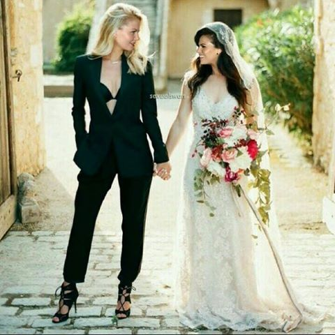 Not a fan of pantsuits, especially not for weddings, but this is nice.  ~Natalya