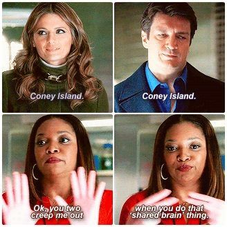 That shared brain thing!gotta love Laney!:)