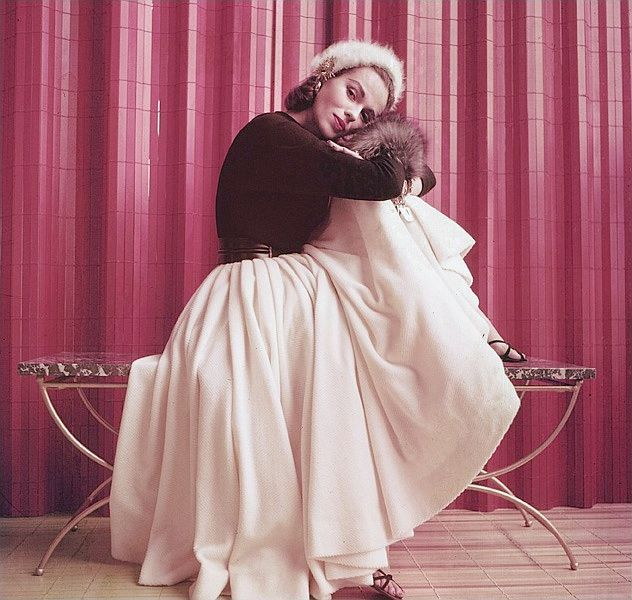 Fashion model Sandy Brown, photo by Milton Greene, May 2, 1955