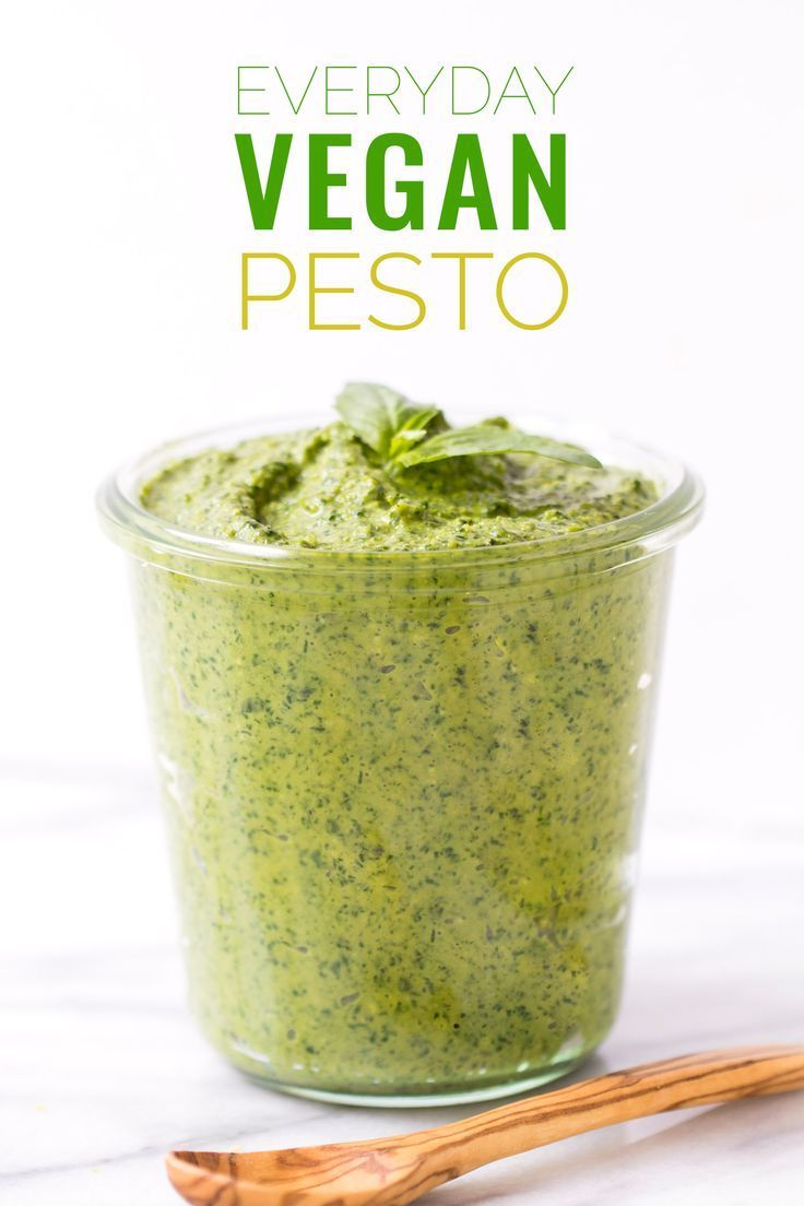 "The ULTIMATE vegan pesto recipe -- easy to make, healthy and tastes just like the ""real"" thing! #vegan #pesto"