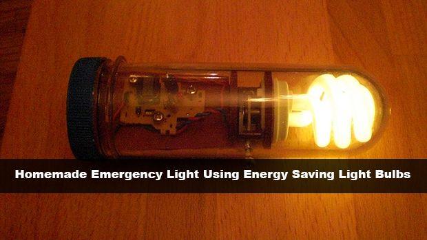 Homemade Emergency Light Using Energy Saving Light Bulbs Read HERE --- > http://www.livinggreenandfrugally.com/homemade-emergency-light-using-energy-saving-light-bulbs/