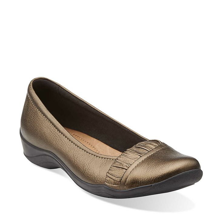 Kessa Myrtle in Bronze Leather - Womens Shoes from Clarks - sale $40