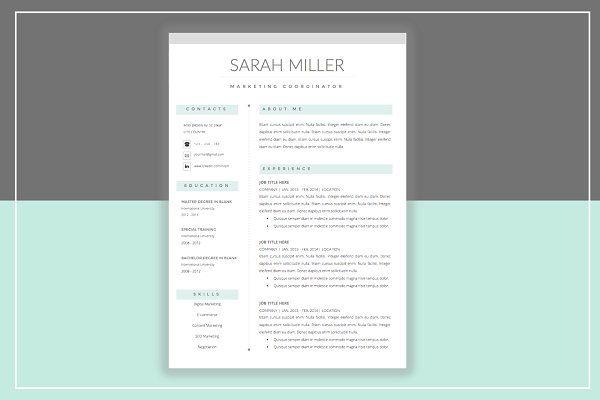Resume Bundle PACK by ResumeStudio on @creativemarket