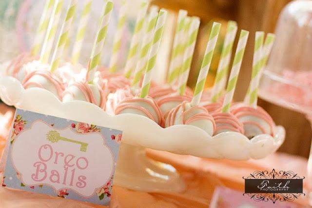 Oreo Cake Balls: Secret Gardens, Birthday Parties, Garden Party, Secret Garden Parties, Oreo Ball, Cake Pop, Party Ideas, Birthday Party