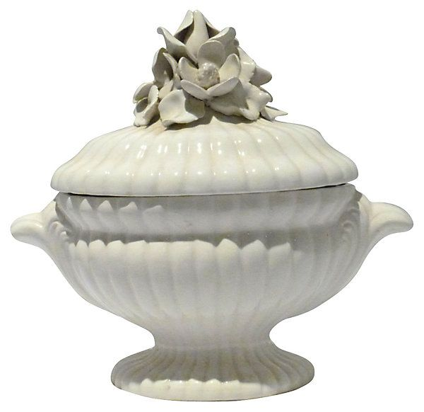 One Kings Lane - Mediterranean Medley - Italian White Tureen