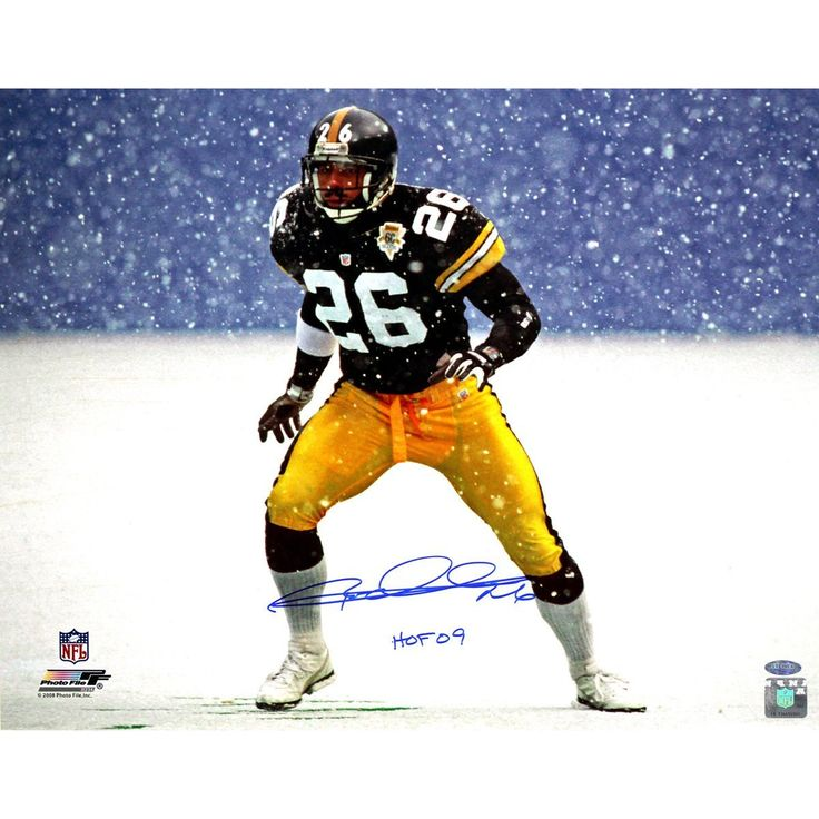 Rod Woodson Steelers Snow 16x20 Photo w HOF 09Insc.