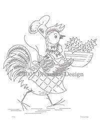 Vintage Embroidery Pattern PDF - Poultry Diner
