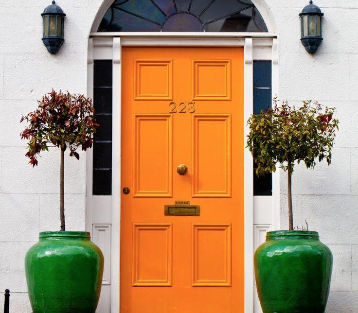 17 best ideas about orange front doors on pinterest orange door exterior door colors and - Feng shui exterior paint colors design ...