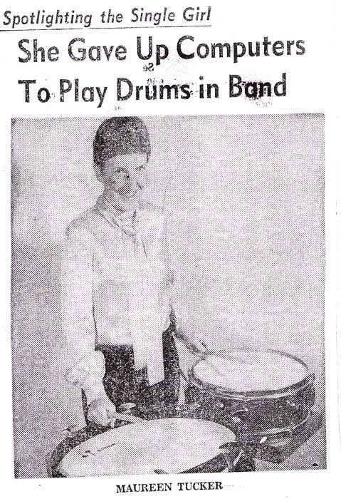 """Maureen """"Moe"""" Tucker - later she was the drummer for The Velvet Underground."""