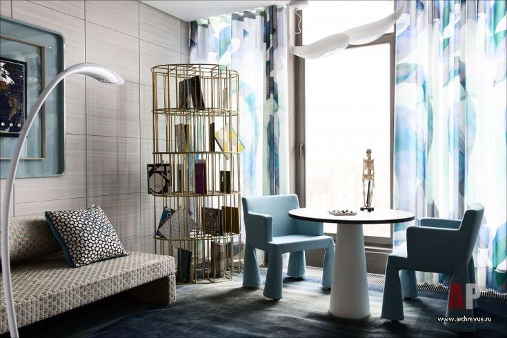 Фото интерьера детской квартиры в стиле гламур