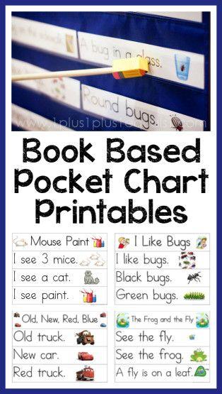 Pocket Chart Printables based on books