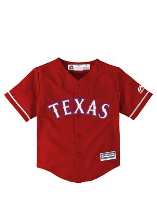 87030793 Texas Rangers Baby Red Infant Cool Base Replica Baseball Jersey ...