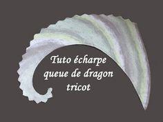 Tuto écharpe queue de dragon au tricot facile et rapide!