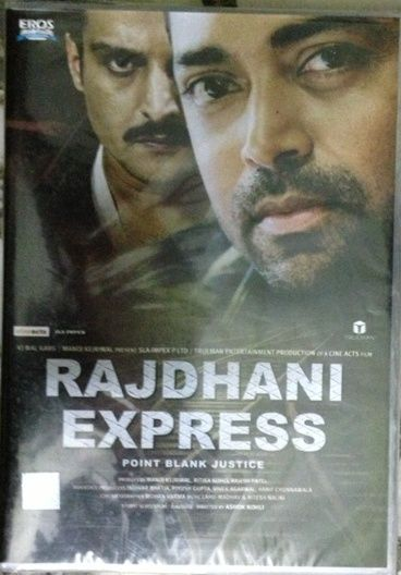 www.clickoncart.com/Rajdhani-Express-DVD starcast 	: 	Jimmy Shergill, Sayali Bhagat, Pooja Bose, Priyanshu Chatterjee, Sudhanshu Pandey, Leander Paes, Muk director 	: 	Ashok Kohli producer 	: 	Manoj Kejriwal, Ritika Kohli, Rajesh K Patel, Indivar Ashok Bhatia music_director 	: 	Ritesh Nalini, Lahu-Madhav genre 	: 	Thriller, Action format 	: 	DVD label 	: 	Eros International language 	: 	Hindi year 	: 	2013 Discs 	: 	1 subtitle 	: 	English region 	: 	Region Free