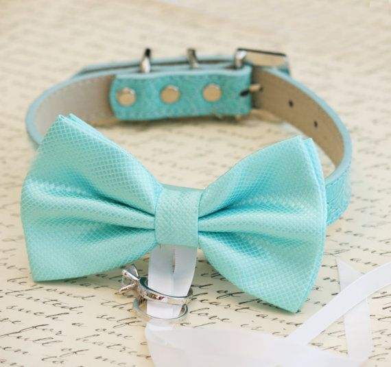 Blue Dog Bow Tie, Dog ring bearer, Pet Wedding accessory, Pet lovers, Beach wedding, Ocean on Etsy, $31.50