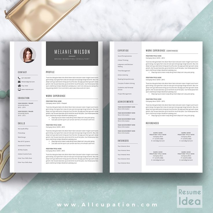 @allcupation Creative Resume Template, Modern CV Template, Word, Cover Letter, References, Instant Download, Mac PC, MELANIE | Allcupation.com | We Help You Create Powerful Resume and Win The Interview | #resume #template #resumetemplate