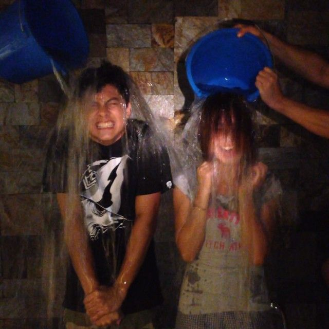 This is Kathryn Bernardo and Daniel Padilla (#KathNiel) taking the #ALSIceBucketChallenge last August 2014 to raise awareness for ALS (Amyotrophic Lateral Sclerosis) and its cause. They did a good job doing the challenge, indeed. :-)