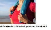 4 Dakikada 100 kalori yaktıran egzersiz