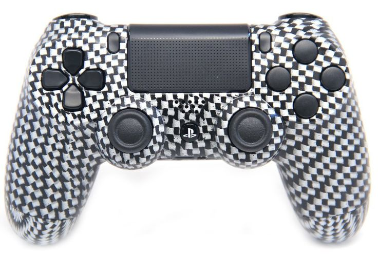"This is our ""Crazy Carbon Fiber"" PlayStation 4 Modded Controller. It is a perfect gift for a special gamer in your life. Order yours today at: http://moddedzone.com/ You can also visit our eBay store at: http://stores.ebay.com/moddedzone/"