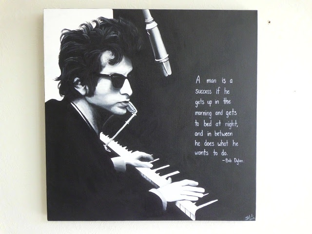 Bob Dylan painting