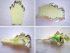 как сделать орхидею из конфет