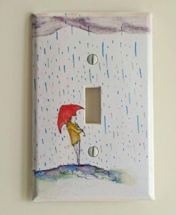 Standing in The Rain Decorative  Light Switch Plate by idillard, $9.00