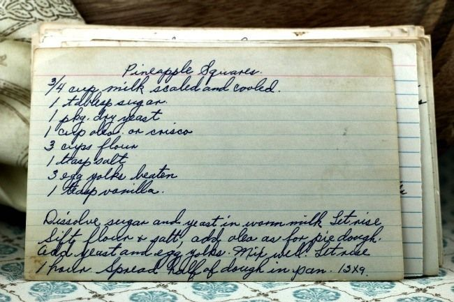 A classic vintage recipe from the files - Pineapple Squares