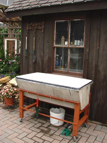 Interesting Use Of Old Cement Sink Gardening Ideas