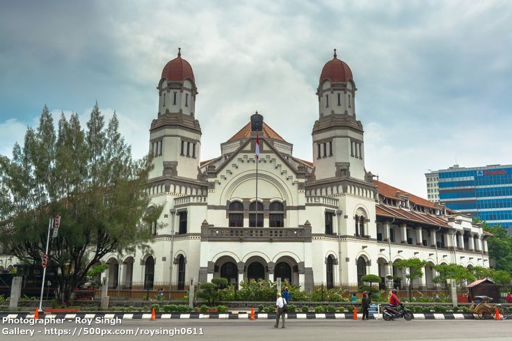 "Lawang Sewu (""Thousand Doors"") is a landmark in Semarang, Central Java, Indonesia, built as the headquarters of the Dutch East Indies Railway Company. The colonial era building is famous as a haunted house, though the Semarang city government has attempted to rebrand it. Lawang Sewu was designed by Cosman Citroen, from the firm of J.F. Klinkhamer and B.J. Quendag... #architecture #asia #building #centraljava #city #cityscape #dutch #history #indonesia #java #lawangsewu #old #semarang #travel"