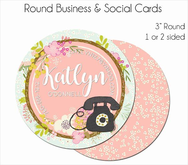 Round Business Card Template Fresh Round Business Cards 9 Free Psd Vector Ai Eps Form Round Business Cards Business Card Template Business Card Template Design